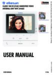 Classe 100 X16E (2020) WIFI 344682 user manual for video doorphone handsfree, with mobile phone connect